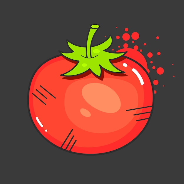Tomatoes retro ad design with red juicy tomato on old paper texture Premium Vector