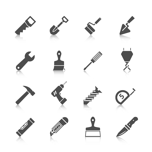 Tool icons collection Premium Vector