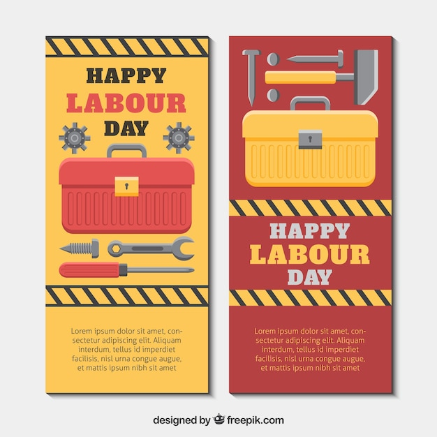 Toolbox banners Free Vector