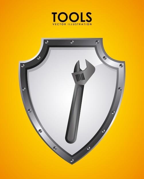 Tools emblem Free Vector