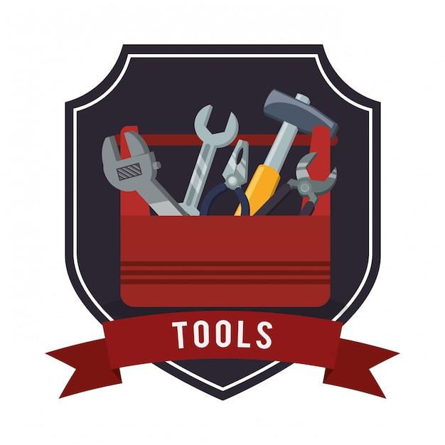 Tools icons design Premium Vector