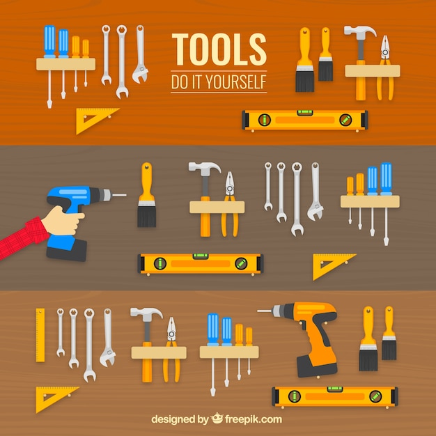 Tools icons Free Vector