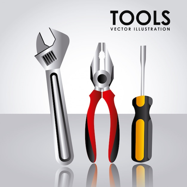Tools simple element Free Vector