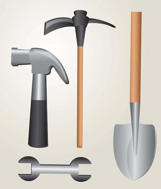 Tools works Premium Vector