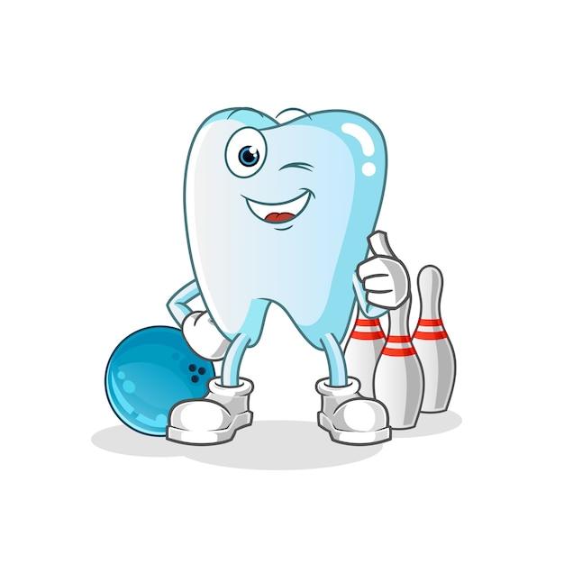 Зубная игра в боулинг Premium векторы