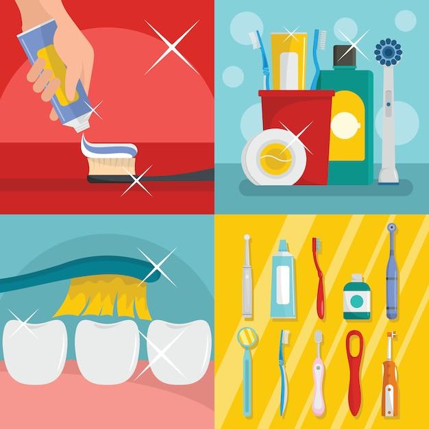 Toothbrush dental Premium Vector