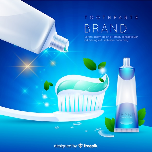 Toothpaste advertising Free Vector