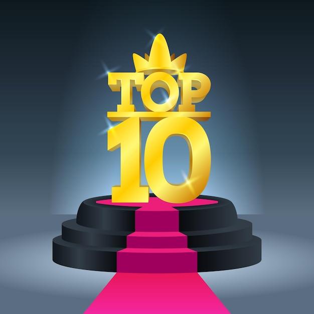Top 10 best podium award 무료 벡터
