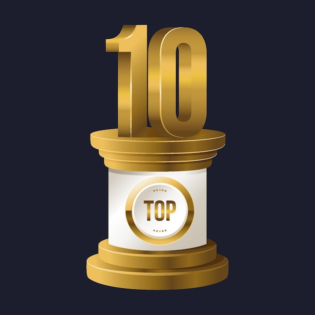 Top 10 best podium award 무료 벡터
