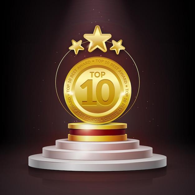 Топ-10 лучших подиумов Бесплатные векторы