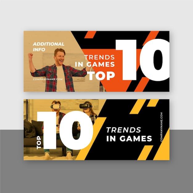Топ-10 рейтинговых баннеров Бесплатные векторы