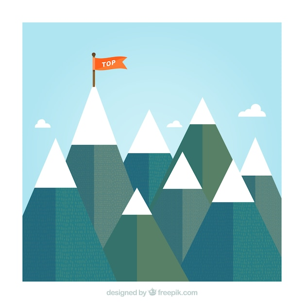 Top mountain Free Vector