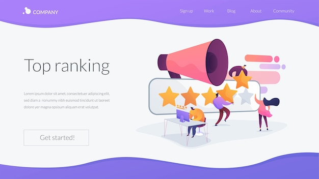 Top ranking landing page template Free Vector