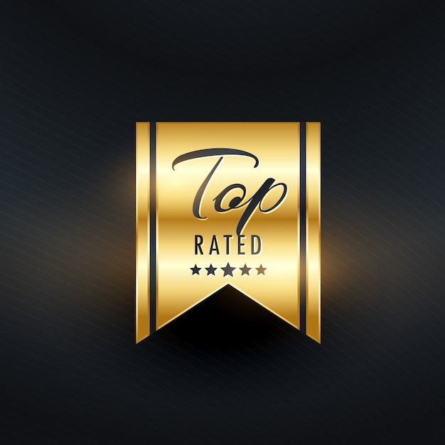 Top rated golden label design Free Vector