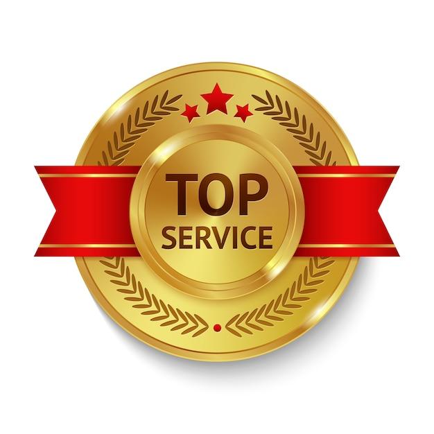 Top service badge Free Vector