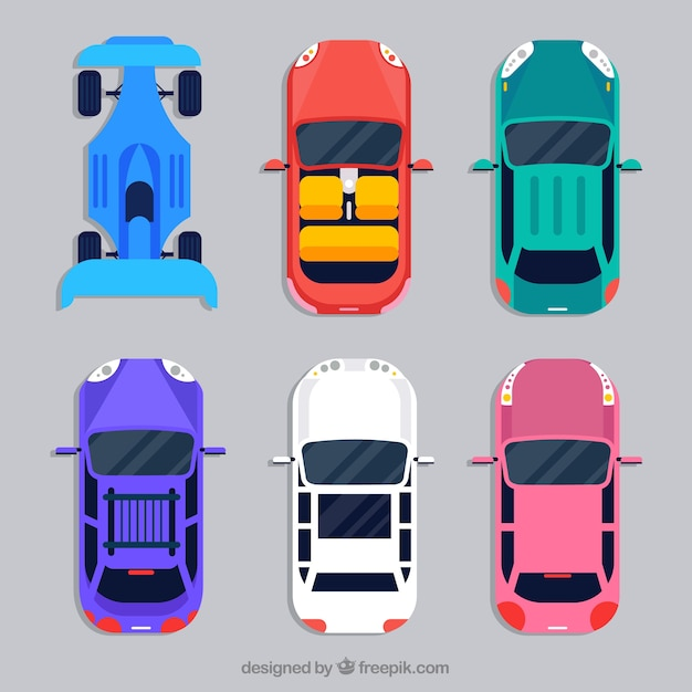 Cars Collection In Top View: Top View Car Collection