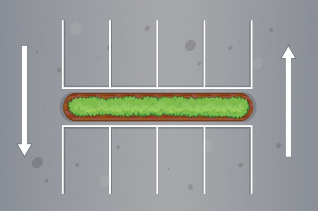 Top view of car park Free Vector