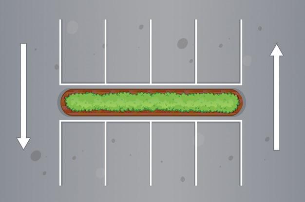 駐車場の平面図 無料ベクター
