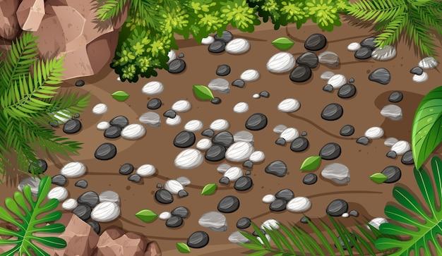 정원의 상위 뷰 가까이 장면 무료 벡터
