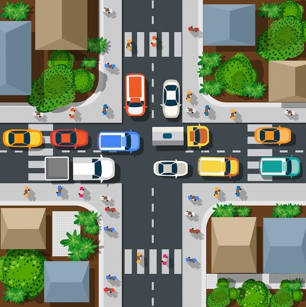 Вид на город Premium векторы
