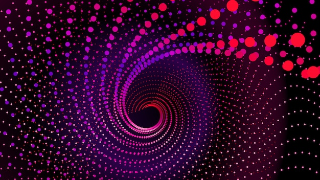Top view to swirl from dots Premium Vector
