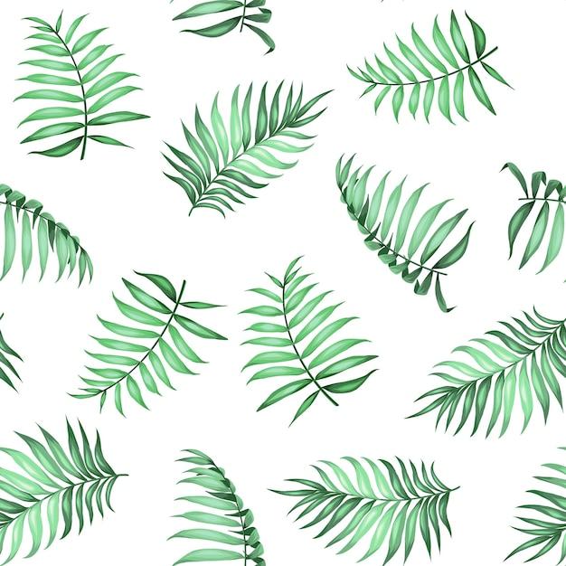 局所的なシュロの葉の生地のテクスチャのシームレスパターン。ベクトルイラスト。 無料ベクター