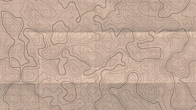 Topographic line map. Premium Vector