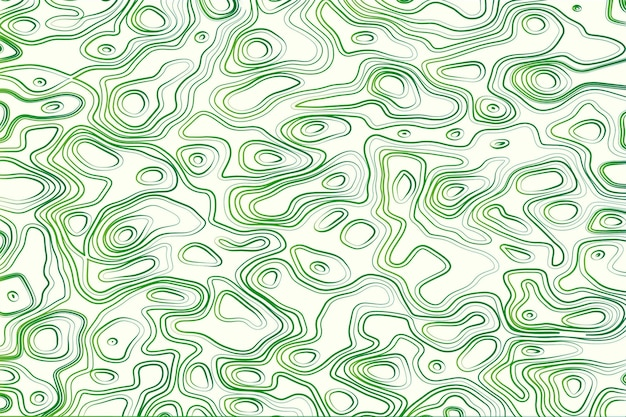 Topographic map background in green and white Free Vector