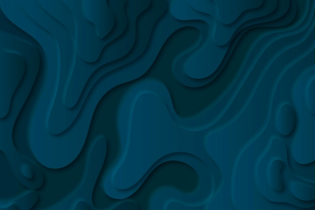 Topographic map background with blue layers Free Vector