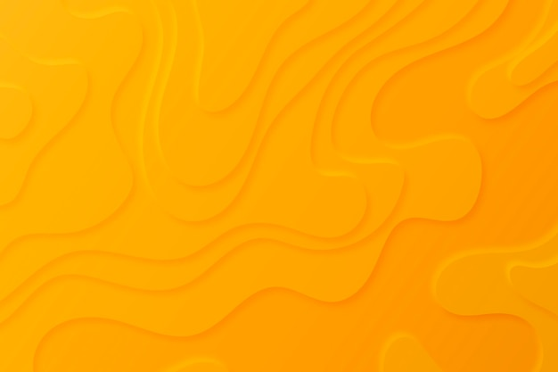 Topographic map background with orange layers Free Vector