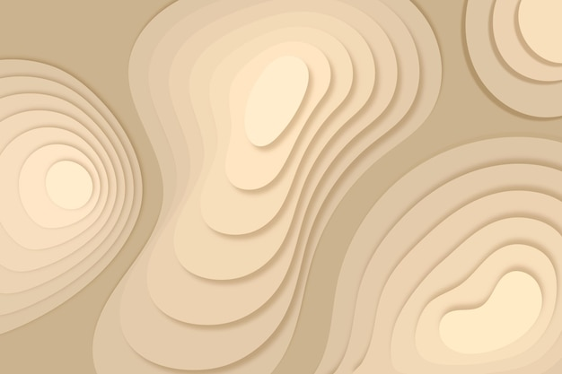 Topographic map background with sand dunes Free Vector