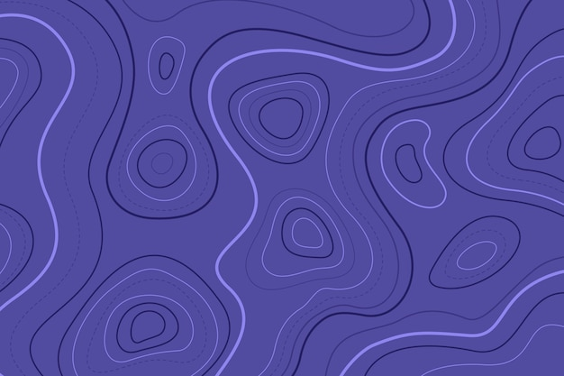 Topographic map blue contour lines Free Vector