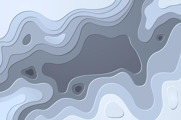 Topographic map contour lines background Free Vector