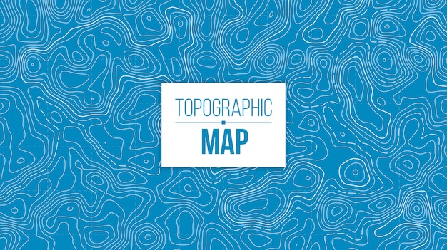 Topographic map. mountain hiking trail grid. Premium Vector