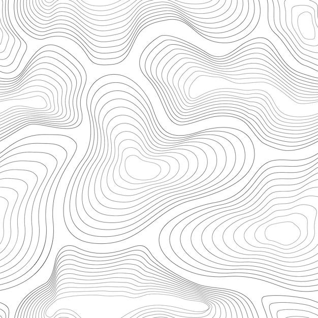Topographic map pattern. Premium Vector