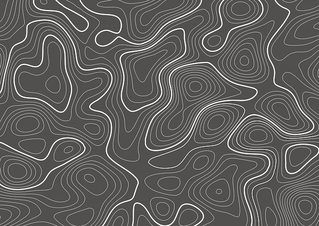 Topography contour map design Free Vector