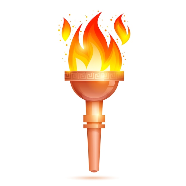 Torch icon isolated Free Vector