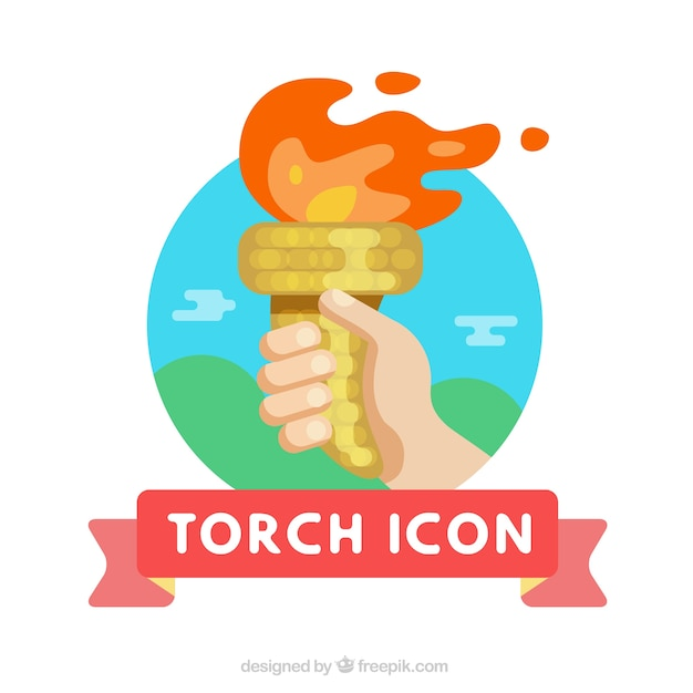 Torch icon Vector | Free Download