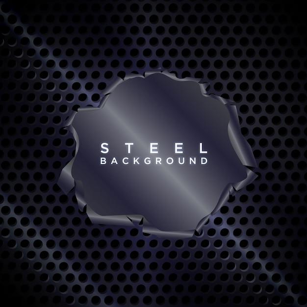 Torn metal background Premium Vector