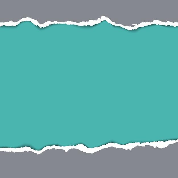 破れた紙の背景。空のデザイングランジ、破れたパターン、ベクトル図 無料ベクター