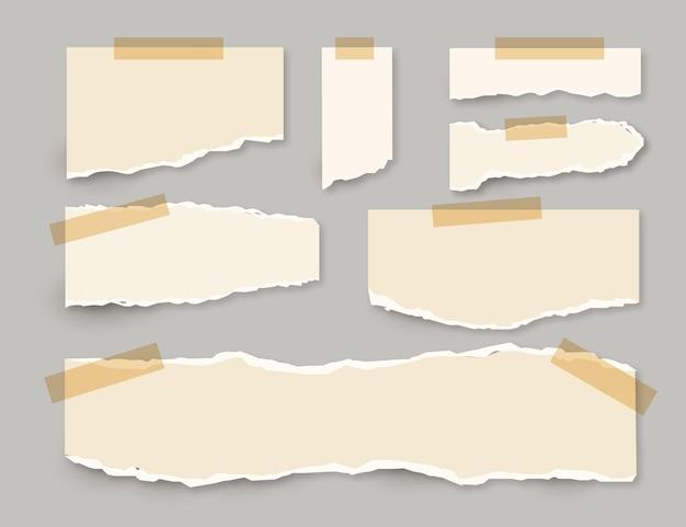 Raccolta di carta strappata con il concetto di nastro Vettore gratuito