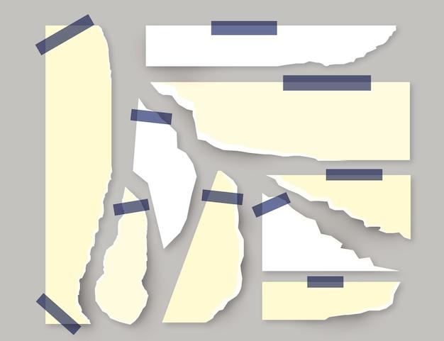Сбор рваной бумаги с лентой Бесплатные векторы