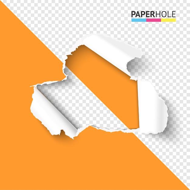 Разорванная бумажная дыра на полупрозрачном фоне красочная концепция для продажи промо Premium векторы