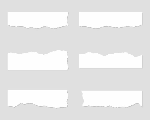 Torn paper set. set of ripped paper. Premium Vector