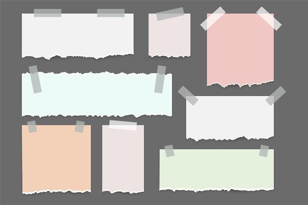 Рваная бумага с набором бумаги Premium векторы