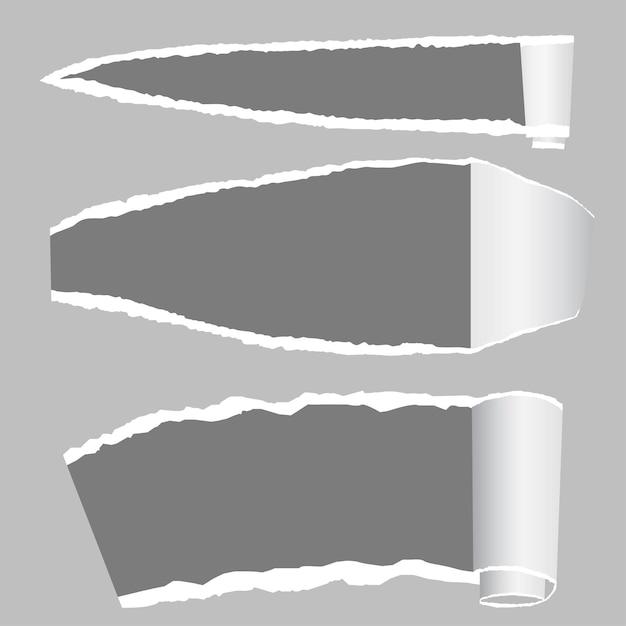 Рваная бумага с рваными краями и местом для текста. Premium векторы