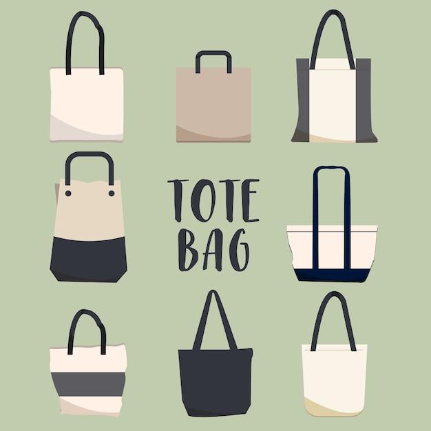 Totoe bag pack Premium Vector