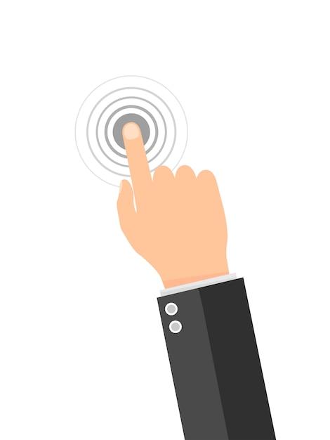 Touch screen finger icon. Premium Vector