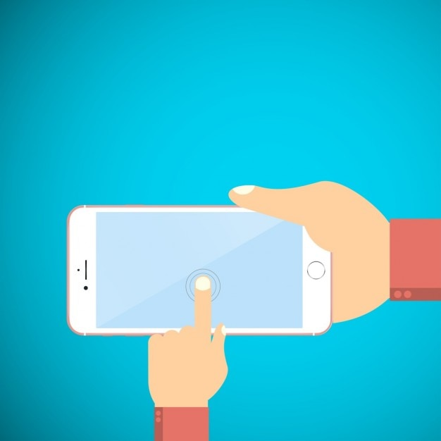 Touch screen of a mobile phone Free Vector