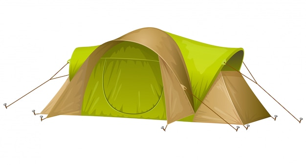 Tourist tent isolated Free Vector